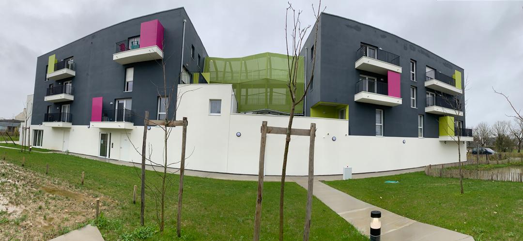 Dernière réalisation d'un collectif de 30 logements sur Trignac